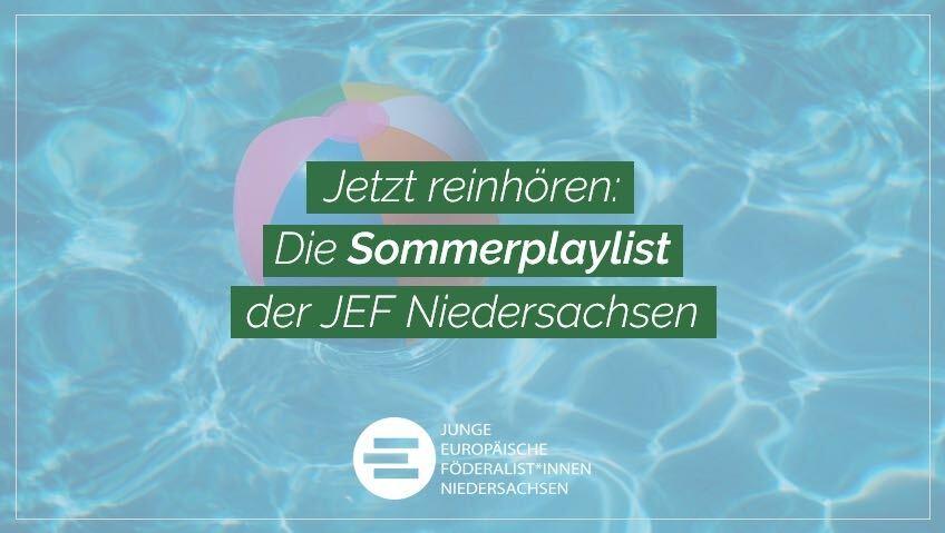 Sommerplaylist 2020 der JEF Niedersachsen