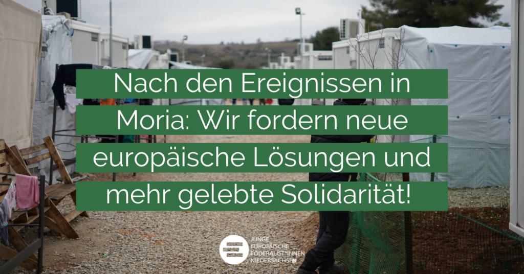 Titelbild: Nach den Ereignissen in Moria: Wir fordern neue europäische Lösungen und mehr gelebte Solidarität!